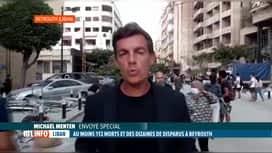 RTL INFO 19H : Double explosion à Beyrouth: premier témoignage de la situation sur...