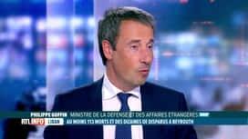 RTL INFO 19H : Double explosion à Beyrouth: commentaires du ministre Goffin en pla...