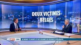 RTL INFO 19H : Double explosion à Beyrouth: réactions du ministre Goffin en plateau