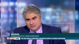 RTL INFO 19H : Double explosion à Beyrouth: l'ambassadeur du Liban est l'invité du JT