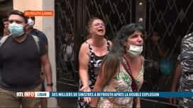 RTL INFO 19H : Double explosion à Beyrouth: la foule demande de l'aide à E. Macron