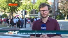 RTL INFO 19H : Double explosion à Beyrouth: manif devant l'ambassade du Liban à Bxl