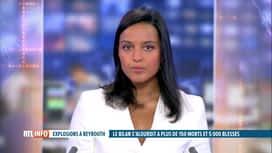 RTL INFO 13H : Double explosion à Beyrouth: plusieurs personnes placées en détention