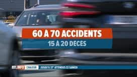 RTL INFO 13H : Les accidents de la route sont plus nombreux en cas de canicule