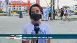 RTL INFO 19H : Canicule: Claire Carosone est en direct de Knokke