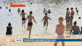 RTL INFO 19H : Canicule: baignade et sports nautiques ont la cote à Namur