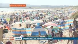 RTL INFO 19H : La canicule sévit partout en Europe: les plages prises d'assaut