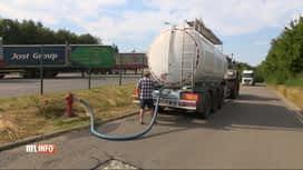 RTL INFO 19H : Libramont : des camions-citerne pour faire face à la pénurie d'eau