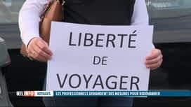 RTL INFO 19H : Coronavirus : le secteur du tourisme a manifesté ce vendredi