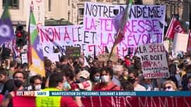 RTL INFO 19H : Grande manifestation du personnel de la santé à Bruxelles