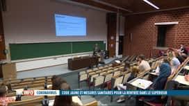 RTL INFO 19H : Une rentrée en mode Covid dans les hautes écoles et les universités
