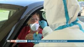 RTL INFO 19H : Coronavirus: les centres de dépistages sont littéralement débordés