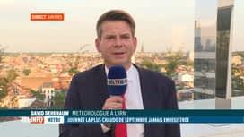 RTL INFO 19H : Météo: le point avec David Dehenauw sur la chaleur et les prévisions