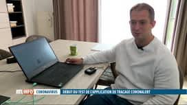 RTL INFO 13H : Coronavirus: focus sur l'application Coronalert