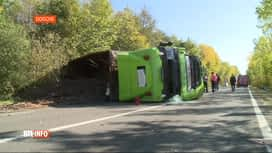 RTL INFO 13H : Grave accident de la route ce matin sur la N40 à Doische