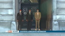 RTL INFO 19H : Formation fédérale: le roi refuse la démission des préformateurs