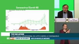 RTL INFO 13H : Coronavirus: Yves Van Laethem commente les chiffres quotidiens