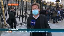 RTL INFO 19H : Formation fédérale: les préformateurs présentent leur rapport au Roi