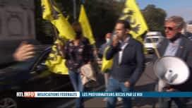 RTL INFO 19H : Des manifestants du Vlaams Belang ont bloqué ce matin la rue de la Loi