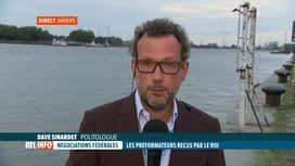 RTL INFO 19H : Formation fédérale: Dave Sinardet commente la situation politique