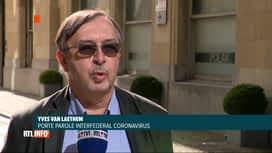 RTL INFO 13H : Coronavirus: le point sur la situation épidémique en Belgique