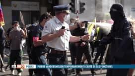RTL INFO 19H : Le commissaire de police Pierre Vandersmissen écarté temporairement