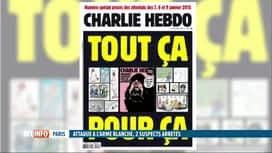 RTL INFO 19H : Attaque à Paris: Charlie Hebdo fait toujours l'objet de menaces
