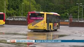 RTL INFO 19H : Journée d'action syndicale lundi : les transports en commun impactés