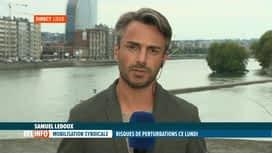 RTL INFO 19H : Le point en direct sur la journée d'action syndicale prévue pour lundi
