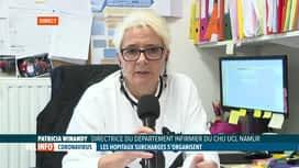 RTL INFO 13H : Coronavirus: le CHU de Namur lance un appel aux étudiants-infirmiers