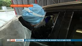 RTL INFO 19H : Coronavirus: les asymptômatiques ne doivent plus se faire tester