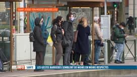 RTL INFO 19H : Coronavirus: les gestes barrières semblent moins bien respectés