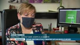 RTL INFO 19H : Coronavirus: la réaction des directeurs d'école aux dernières mesures