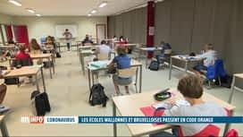 RTL INFO 19H : Coronavirus: les écoles de la FWB passent en code orange