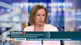 RTL INFO 19H : Coronavirus: la Ministre de l'Education Caroline Désir est notre in...