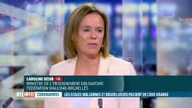 RTL INFO 19H : Coronavirus: Caroline Désir revient sur les mesures dans les écoles
