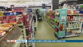 RTL INFO 13H : Coronavirus: appel des supermarchés à refaire ses courses seul