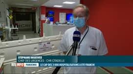 RTL INFO 13H : Coronavirus: la situation des hôpitaux liégeois est critique