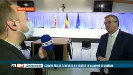 RTL INFO 19H : Coronavirus: Pierre-Yves Jeholet fait le point sur les nouvelles...
