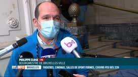 RTL INFO 19H : Coronavirus: le gouvernement bruxellois prend de nouvelles mesures