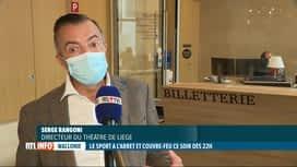 RTL INFO 19H : Coronavirus: le secteur culturel wallon doit face aux nouvelles mes...
