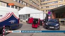 RTL INFO 19H : Coronavirus: un hôpital de campagne vient d'être installé à Verviers