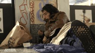 SDF dans les bas-fonds de Paris