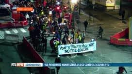 RTL INFO 19H : Coronavirus: 150 personnes ont manifesté à Liège contre le couvre...
