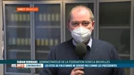 RTL INFO 13H : Coronavirus: réaction de l'Horeca au sujet des fêtes en mode mineur