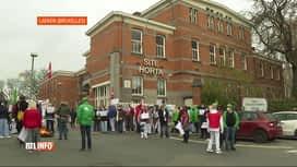 RTL INFO 13H : Coronavirus: le personnel de l'hôpital Brugman a manifesté ce matin