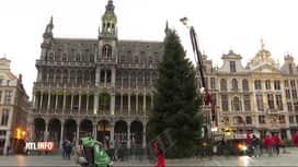 RTL INFO 13H : Le sapin de Noël a été installé sur la Grand'Place de Bruxelles