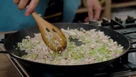 Loïc, fou de cuisine : Paella St Jacques, boudin noir et champi