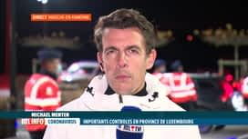 RTL INFO 19H : Coronavirus: contrôles policiers en province de Luxembourg ce soir
