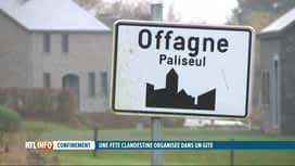 RTL INFO 19H : La police met fin à une fête clandestine dans un gîte de Paliseul
